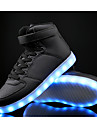 Garcon-Sport-Noir Bleu Blanc-Talon Plat-Confort Light Up Chaussures-Baskets-Cuir Polyurethane