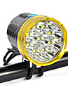 Eclairage Lampes Frontales Eclairage securite velo / Ecarteur de danger Sangle de Lampe Frontale LED 18000 Lumens 1 Mode Cree XM-L T6