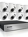 zosi®hd 8ch 720p DVR 8st 1.0mp väder utomhus hemsäkerhet kameraövervaknings kit