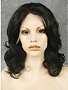 imstyle 16\'\'natural regardant noirs boucles perruque synthetique de dentelle avant de dentelle colorable