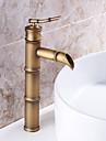 salle de bains robinet d\'evier en laiton antique conception de forme finition en bambou