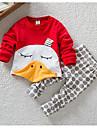 Bebelus Set Îmbrăcăminte Casul/Zilnic Imprimeu Animale Primăvară / Toamnă-Bumbac-Roșu / Gri