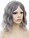 imstyle12\'hot vente ondes naturelles synthetiques perruques populaires machine gris pas dentelle