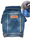 Chien Vestes en Jean Bleu Vetements pour Chien Hiver Printemps/Automne Jeans Mignon cow-boy Mode