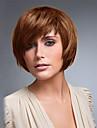 coiffure courte bob douce droite avec bang cote capless perruques de cheveux humains de haute qualite