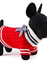 Pisici / Câini Pulovere Roșu / Albastru Îmbrăcăminte Câini Iarnă / Primăvara/toamnă Bloc Culoare Drăguț / Crăciun / Anul Nou