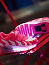Fille-Exterieure Sport Decontracte-Rose Peche Noir et rouge Noir et blanc-Talon Bas-Confort Light Up Chaussures-Baskets-Cuir