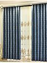 Två paneler Fönster Behandling Europeisk , Blomma Sovrum Polyester/Bomull Blandning Material gardiner draperier Hem-dekoration For Fönster