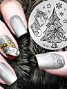 2016 senaste versionen mode julgran mönster nail art stämpling bild mall plattor