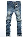 Femei Femei Pantaloni Simplu(ă) Blugi / Pantaloni Chinos Bumbac Strech