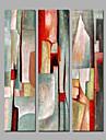 Peint a la main Abstrait Peintures a l\'huile,Moderne Trois Panneaux Toile Peinture a l\'huile Hang-peint For Decoration d\'interieur