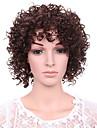 cheveux courts d\'onde couleur auburn boucles perruques synthetiques pour les femmes afro