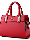 Femme Polyurethane Formel Decontracte Exterieur Bureau & Travail Shopping Cabas Blanc Rose Violet Bleu Jaune Rouge Noir Bourgogne