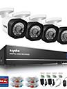 sannce® 4ch 720p ahd kits de surveillance du systeme de securite a domicile dvr 4pcs hdmi 720p ir de vision nocturne de camera de