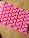 ustensile de cuisine en forme de coeur de silicone moules de cuisson pour le chocolat cm-87