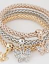 Dame Brățări cu Talismane Ștras imitație de diamant Aliaj stil minimalist La modă Curcubeu Bijuterii 1set
