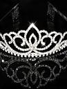 Femei Ștras Cristal Diadema-Nuntă Ocazie specială Tiare