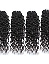 Human Hår vävar Brasilianskt hår Vattenvågor 6 månader 4 delar hår väver