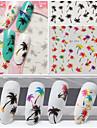 3 Nail Art Sticker Vatten Transfer Dekaler makeup Kosmetisk Nail Art Design