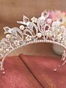 Pentru femei Platină Imitație de Perle Ștras Diadema-Nuntă Ocazie specială Tiare 1 Bucată