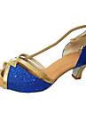 Latin / Pantofi Dans-Pantofi de dans(Albastru / Argintiu / Auriu / Altele) -Personalizabili-Damă