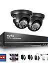 sannce 1.0MP 720p 4ch hd 4 en1 tvi h.264 dvr dans le systeme exterieur / cctv camera de securite