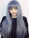 Perruques de lolita Doux Lolita Droite Bleu Ciel Perruques de Lolita 75 CM Perruques de Cosplay Perruque Pour Femme