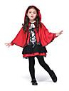 cosplay Pull Inspirerad av Diabolik Lovers Youmu Konpaku Animé Cosplay Accessoarer Kappa / Klänning Röd Polyester Barn