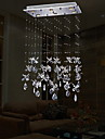 Clear Crystal Flower Shape Lighting Pendant Modern Lamp 6 Lights