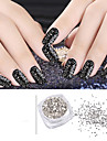1set  ( 1pcs glass flake + 1pcs wooden stick) Nail Art Decoration strass Perles Maquillage cosmetique Nail Art Design