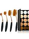 15 Concealer/konturSminkborstar Fuktig Ansikte Dækning / Concealer / Ojämn hudfärg / Naturlig / Porreducerande / Andningsfunktion