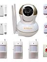 systeme de camera de securite IP d\'alarme maison sans fil de cambrioleur de surveillance maison anti- voleur video avec des detecteurs de