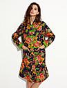 Femei Palton Femei Vintage Căptușit Manșon Lung Bumbac