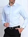 Bărbați Guler Cămașă Cămașă Oficial Muncă Plus Size Simplu(ă),Mată Manșon Lung Toamnă-Mediu Bumbac Celofibră Poliester