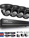 Sannce® 720p outdoor ir camera de securite maison 1080n 4ch hd dvr cctv system
