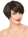 court noir vague droite et couleur auburn perruques synthetiques pour les femmes