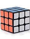Yongjun® Cube de Vitesse  3*3*3 Vitesse Niveau professionnel Cubes magiques Noir Autocollant lisse Guanlong ressort reglable ABS