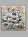 HANDMÅLAD Abstrakt / Blommig/Botanisk olje~~POS=TRUNC,Moderna / Klassisk En panel Kanvas Hang målad oljemålning For Hem-dekoration