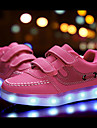 Fille-Exterieure Decontracte Sport-Noir Rose Blanc-Talon Bas-Confort Premieres Chaussures Light Up Chaussures-Baskets-Cuir