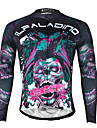 ILPALADINO Maillot de Cyclisme Homme Manches longues Velo MaillotSechage rapide Resistant aux ultraviolets Respirable Compression