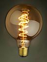 e27 de bulbes 40w soie filament de carbone a incandescence de lumiere de g95 autour de la perle