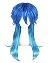 Perruques de Cosplay Kumamon Akari Bleu Moyen Anime Perruques de Cosplay 60 CM Fibre resistante a la chaleur Unisexe
