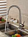 Contemporain Decoration artistique/Retro Moderne Pull-out / Pull-down Vasque large spary Pivotant with  Valve en ceramiqueMitigeur un