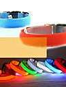 Hundar Halsband LED Lampor / Justerbara/Infällbar Röd / Grön / Blå / Rosa / Gul / Orange Nylon
