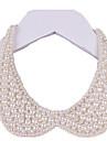 Mujer Collar Perla Forma de Circulo Joyas Perla Tejido Hecho a mano Elegant Joyas Para Boda Fiesta Cumpleanos Diario 1 pieza