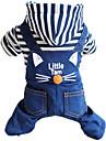 Chien Combinaison-pantalon Bleu Vetements pour Chien Hiver / Printemps/Automne Animal Decontracte / Quotidien