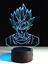 1st sju Dragon Ball färgrik syn stereo LED-lampa 3d lampa färgrik lutning akryl lampa nattlampa seende (ingen fjärrkontroll)