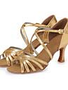 Latin-Pantofi de dans(Roșu / Auriu) -NePersonalizabili-Damă