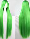 fashion farve tegneserie paryk 100 cm lange grønne hår parykker