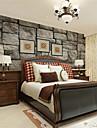 Art Deco / 3D Bakgrund För hemmet Nutida Tapetsering , Kanvas Material lim behövs Mural , room Wallcovering